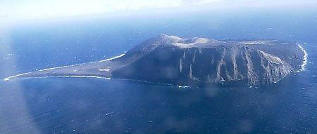 Vulkanön Surtsey som den såg ut år 1999.